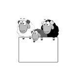 Black-White Family portrait Royalty Free Stock Photos