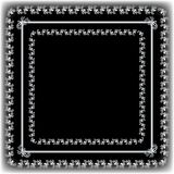 Black and White Fancy Frame Royalty Free Stock Photography