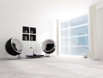 Black and white fashion lounge Royalty Free Stock Image
