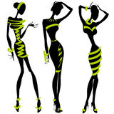 Black and white fashion silhouette Stock Photo