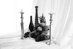 Black and White Feast Royalty Free Stock Images