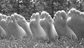 Black and White Feet Royalty Free Stock Photography