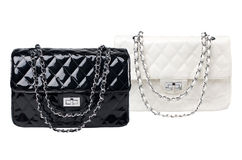 Black and white female bags Royalty Free Stock Photos