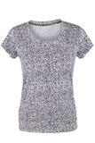Black and white female t-shirt Stock Image