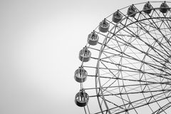 Black and white ferris wheel Royalty Free Stock Photo
