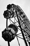 Black and white ferris wheel, vertical. Black and white ferris wheel in famous park, south of Thailand Stock Photo