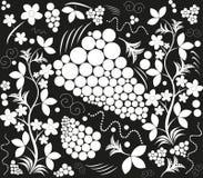 Black white figure. Hohloma illustration Stock Image
