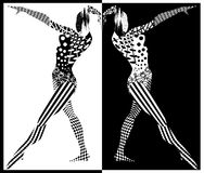 Black and white figures of women Stock Images
