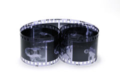 Black and white film Stock Image