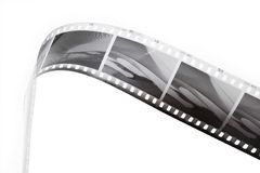 Black and white film strip. On edge Royalty Free Stock Photography
