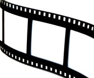 Black & white film strip. Detail of a film strip in black & white, high contrast Stock Photos