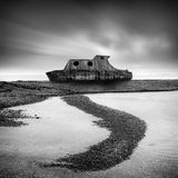 Long exposure image of a wreck Royalty Free Stock Images