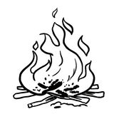Black and white fire royalty free illustration