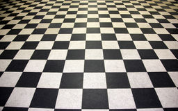 Black and white floor tiles Stock Images