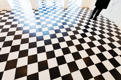 Black and white floor Stock Images