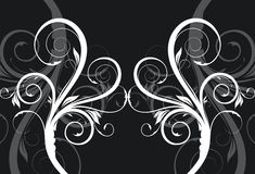 Black and white floral background Stock Photography