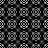 Black and white floral background. Seamless pattern Stock Image