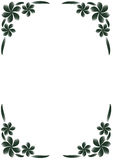Black & White Floral Border Royalty Free Stock Photo