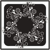Black and white floral card Royalty Free Stock Photography