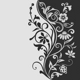 Black and white floral card Royalty Free Stock Photo