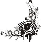 Black and white floral design Stock Images