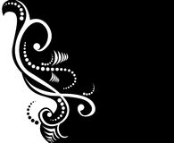 Black and white floral design Stock Image