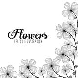 Black and white floral design Stock Photo