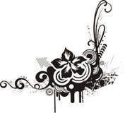 Black & white floral designs Royalty Free Stock Photo