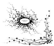 Black and white floral elements Royalty Free Stock Photography