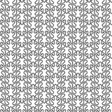 Flame Shapes Geometric Seamless Pattern. Black and white floral flame shapes seamless background pattern. Abstract texture wallpaper Royalty Free Stock Image