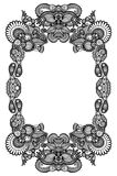 Black and white floral frame Stock Images