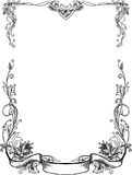 Black And White floral Frames Royalty Free Stock Photos