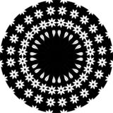 Black and white floral leaf line art Mandala Illustration. Star, . royalty free illustration