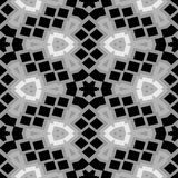 Black and white floral mosaic seamless pattern texture background Stock Photography