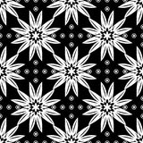 Black and white floral ornament. Seamless pattern. For textile and wallpapers Stock Images