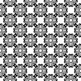Black and white floral ornaments. Seamless pattern. For textile and wallpapers Royalty Free Stock Photos