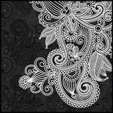 Black and white floral pattern Royalty Free Stock Image