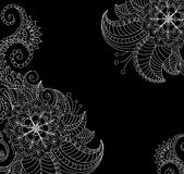 Black and white floral pattern Royalty Free Stock Photos