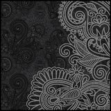 Black and white floral pattern Stock Photos