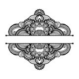 Black and white floral pattern Royalty Free Stock Images