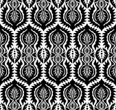 Black and White Floral Pattern Royalty Free Stock Photography