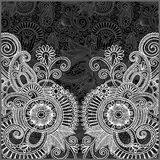 Black and white floral pattern Stock Images