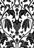 Floral black pattern. Royalty Free Stock Photography