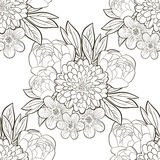 Black and white floral pattern. Royalty Free Stock Images