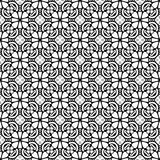 Black and white floral seamless pattern Royalty Free Stock Images