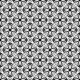 Black and white floral seamless pattern Stock Images