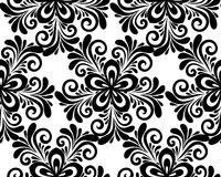 Black and white floral seamless pattern. Royalty Free Stock Image