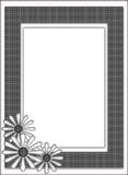 Black and White Floral Woven Pattern Frame Border royalty free stock photo