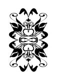 Black white flourish royalty free stock image