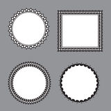 Black and white flower frame Royalty Free Stock Photography